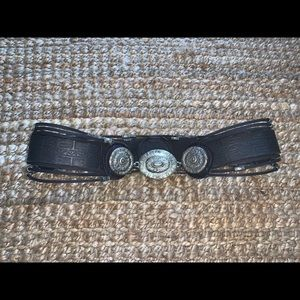 Free People Black and Silver Statement Belt 🦋